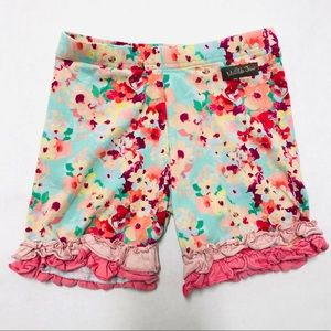 5/$25 Matilda Jane floral ruffle girls shorts 8